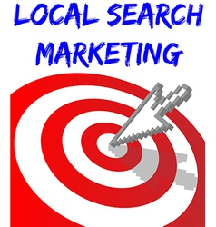 Find local search targeted marketing vector