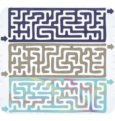 Set of maze vector