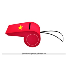 A whistle of socialist republic of vietnam vector