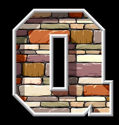 Stone letter q vector