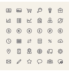 Set of line business icons vector