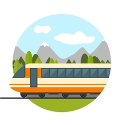 Train on railway vector