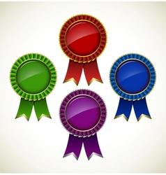 Award rosette vector