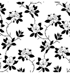 Elegance seamless pattern with flowers rose and ma vector