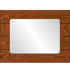 Silver plaque vector