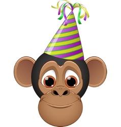 Head chimpanzee in a cap vector