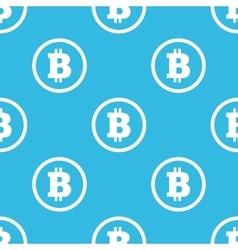 Bitcoin sign blue pattern vector