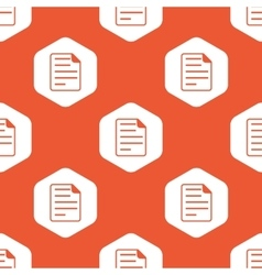 Orange hexagon document pattern vector