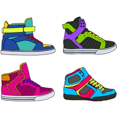 Skateboarding shoes vector
