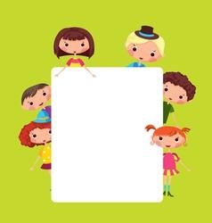 Cartoon children frame vector