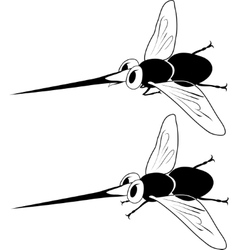 Cartoon mosquito vector