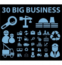 Business signs vector