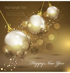 New years gold vector