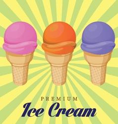 Ice cream cone vector