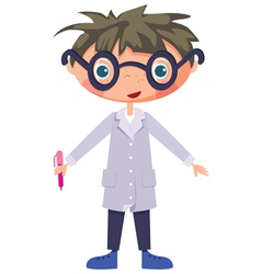 Cartoon scientist vector