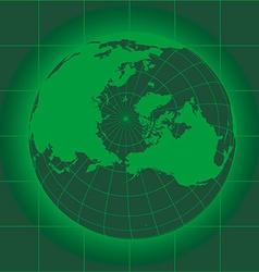 Norh pole green vector