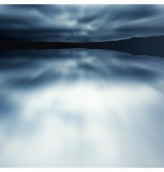 Blue blur lake vector