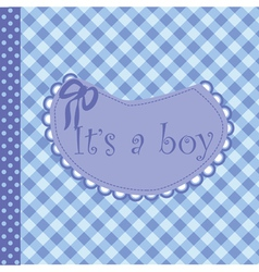 Baby arrival announcement for boy vector