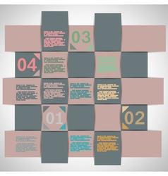 Paper strips for data presentation vector