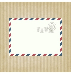 Retro background with envelope vector