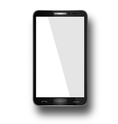 Smart phone with blank screen isolated vector