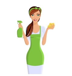 Woman cleaners portrait vector
