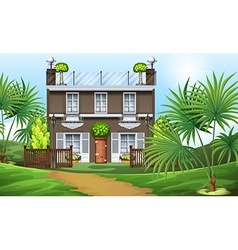 A beautiful property at the hillside vector