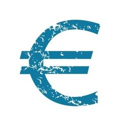 Euro symbol icon vector
