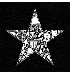 Musical star vector