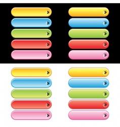 Web plastic button set vector