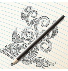 Pencil sketch vector