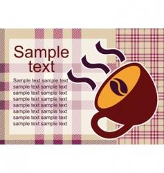 Coffee template vector