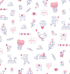 Love is everywhere valentine pattern vector