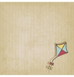 Retro background with kite vector