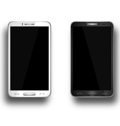 A mobile phones black and white eps10 vector