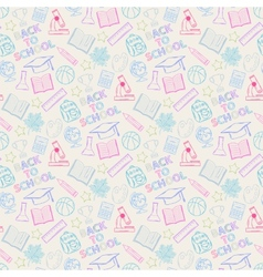 Seamless pattern shcool color vector