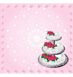 Festive cake vector