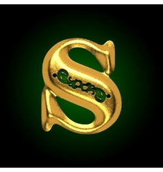 Golden letter s vector