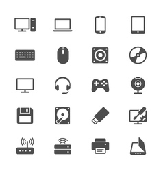 Computer flat icons vector
