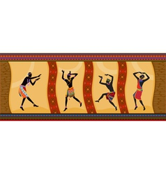 Ethnic dance african people vector