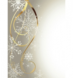 Background with gold and snowflakes2 vector