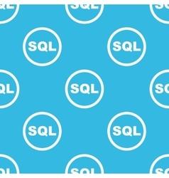 Sql sign blue pattern vector