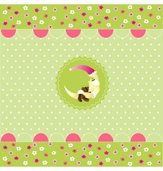 Seamless baby pattern baby card vector