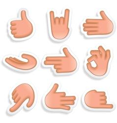 Hand gestures icon set 1 vector