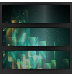 Abstract geometric banner vector