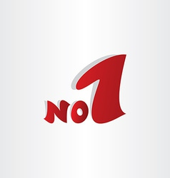 No 1 number one winner symbol vector