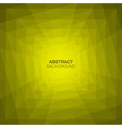 Abstract yellow geometric tunnel background vector