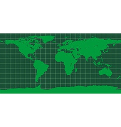 Worldmap in green vector