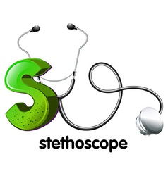 A letter s for stethoscope vector