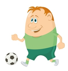 Soccer with ball vector